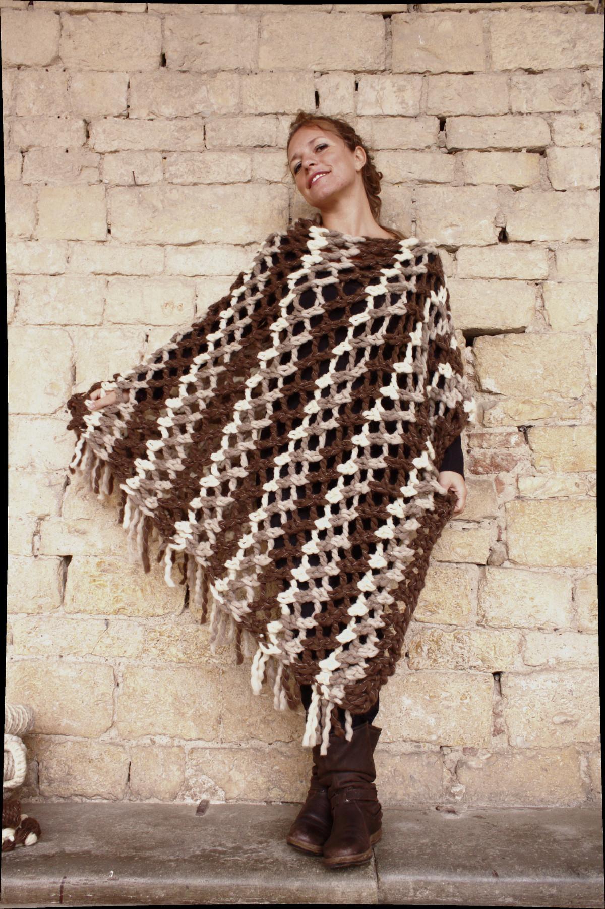 Poncho Naturalia di Daniela's Woolcreations